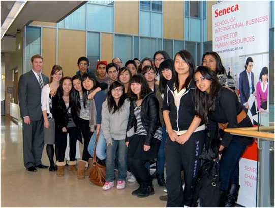 SHSM students visiting Seneca College