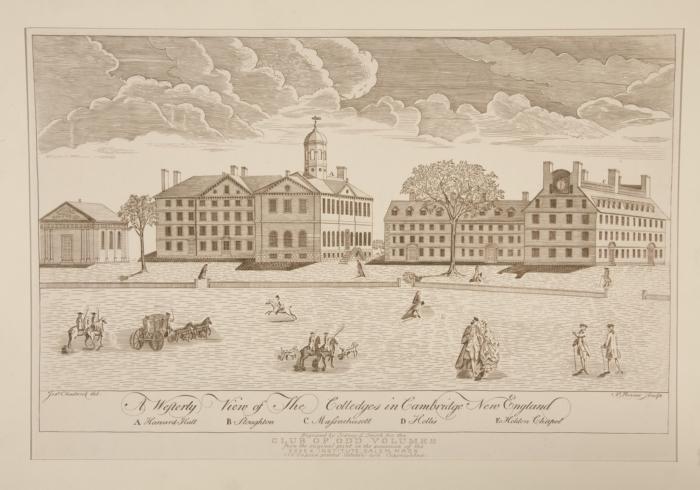 Khuôn cảnh đại học Harvard thời xưa
