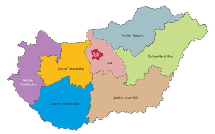 các vùng miền ở hungary
