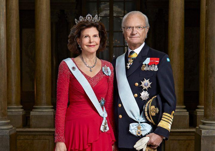 vua và  hoàng hậu thụy điển