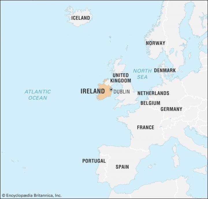 vị trí địa lý ireland